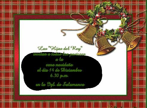 invitacion comida de navidad: