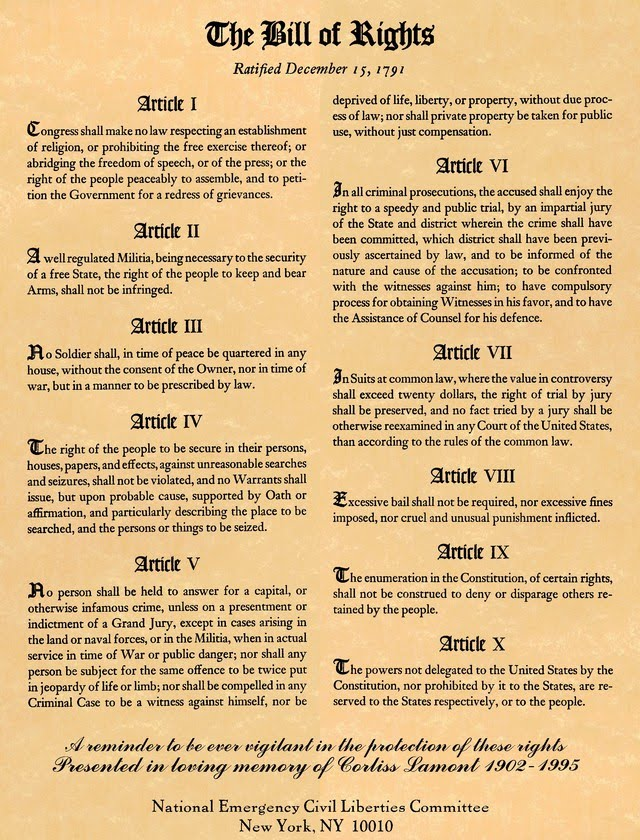 Constitutional bill of rights