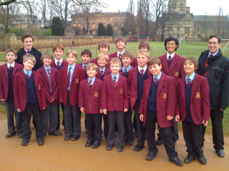 The Choristers at Merton College, Oxford for a joint service