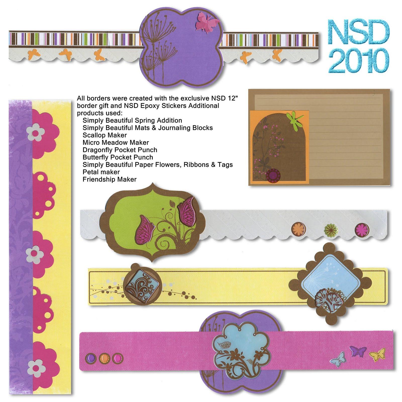 Scrapbook border ideas - Sunday April 25 2010