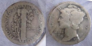 usa winged mercury dime 1916