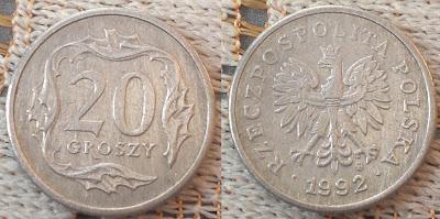 poland 20 groszy 1992