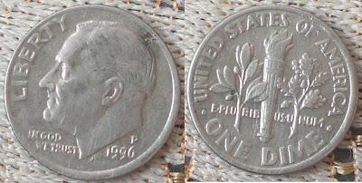 US dime 1996