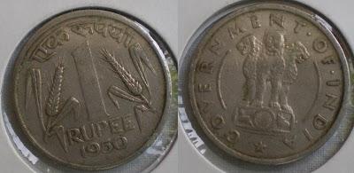 one rupee 1950