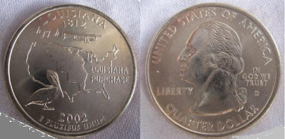 usa louisiana state quarter