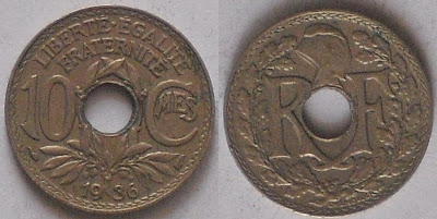 france 10 centimes 1936