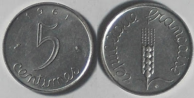 france 5 centimes 1961