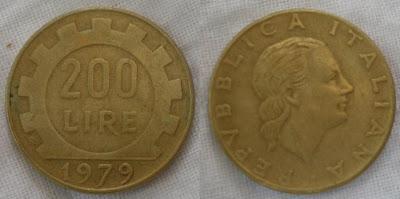 italy 200 lire 1979