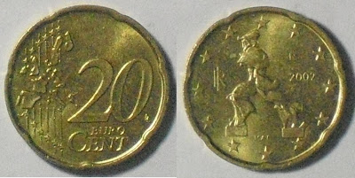 itlay euro 20 cent 2002