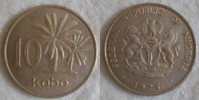 nigeria 10 kobo 1973