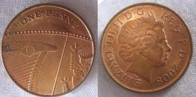 england 1 penny 2008