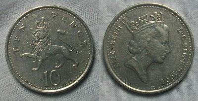 england 10 pence 1992