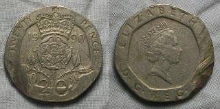england 20 pence 1990