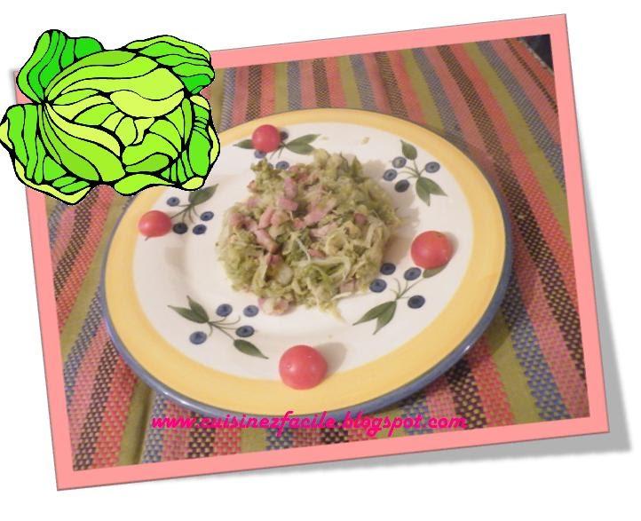 Cuisinez facile chou chinois cuit aux lardons - Cuisiner le chou chinois cuit ...