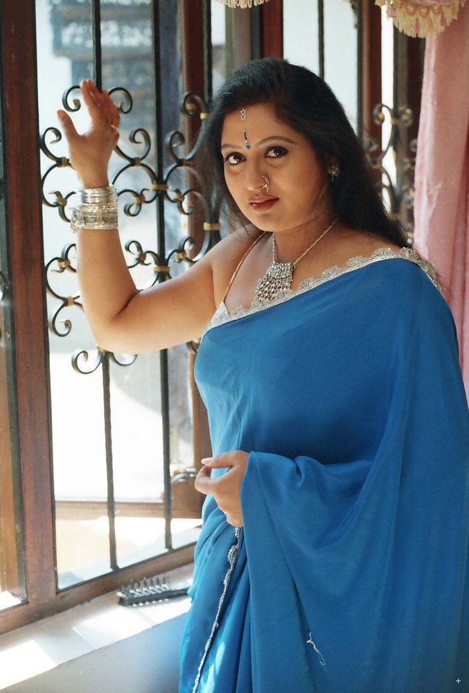 Telugu Tv Actress Sana Hot In Blue Saree