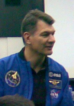 L'astronauta Paolo Nespoli al Politecnico di Milano il 27 marzo 2008