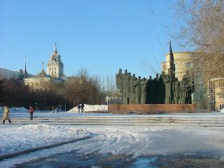 Voronezj monument bij eeuwige vlam