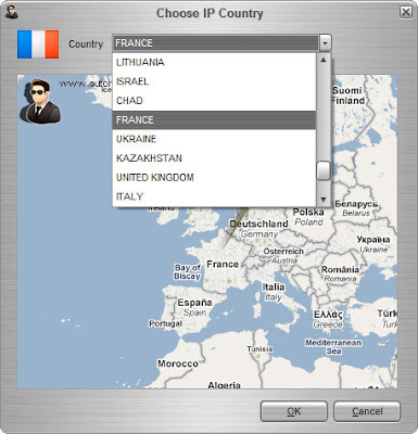 Auto Hide IP :: Choose IP Country