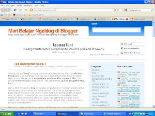 Mari belajar ngeblog di blogger