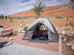 Camping in the desert