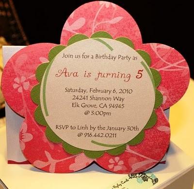 beautiful flower invitation to celebrate ava s 5th birt