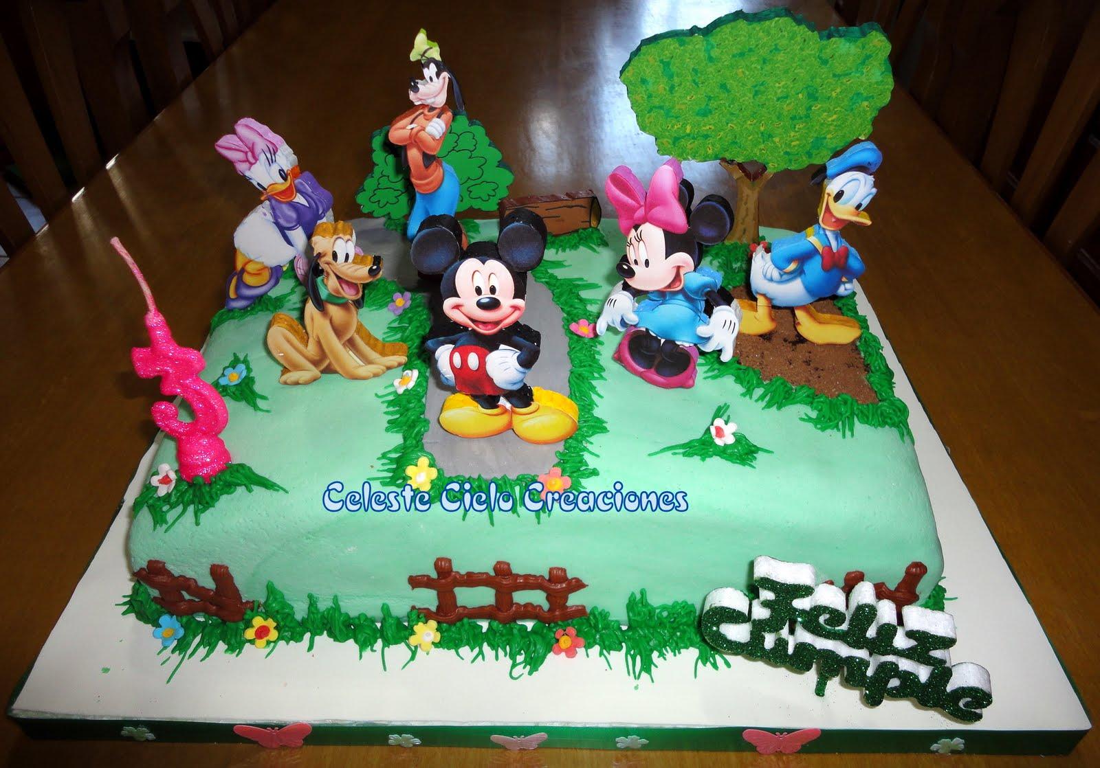 Celeste Cielo Creaciones: Tortas Decoradas: Mickey y sus Amigos