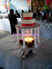Gazebo fountain Wedding Cake