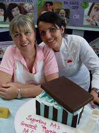 Dominique and I were judges at PA Hospital biggest morning tea.