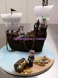 Beginners 7. Pirate ship cake.