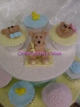 Beginners christening cupcake tower workshop.