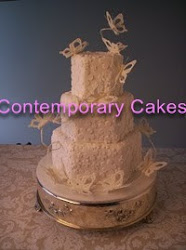 intermediate 10 3 tier hexagon cascading butterfly cake