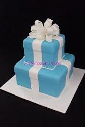 Tiffany 2 tier square cake class.