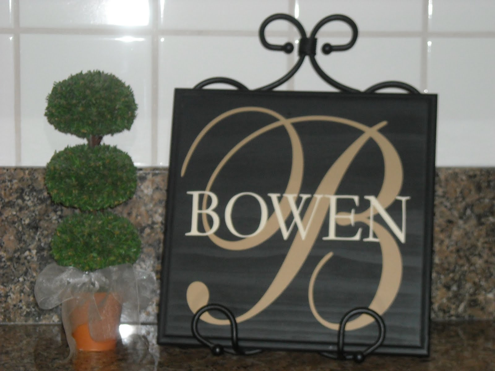 Vinyl Lettering By Susie Wood Board Name Sign