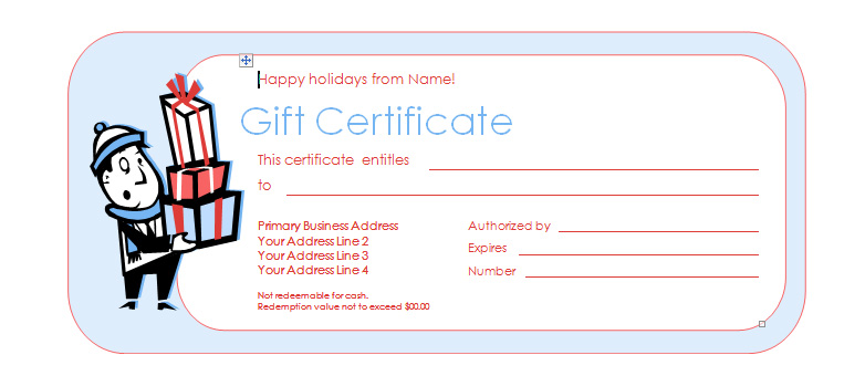 Free business gift certificate template mandegarfo free business gift certificate template yelopaper Image collections