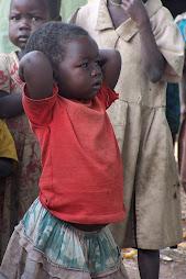 looking at school children - uganda