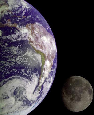 * Terra e  Lua *