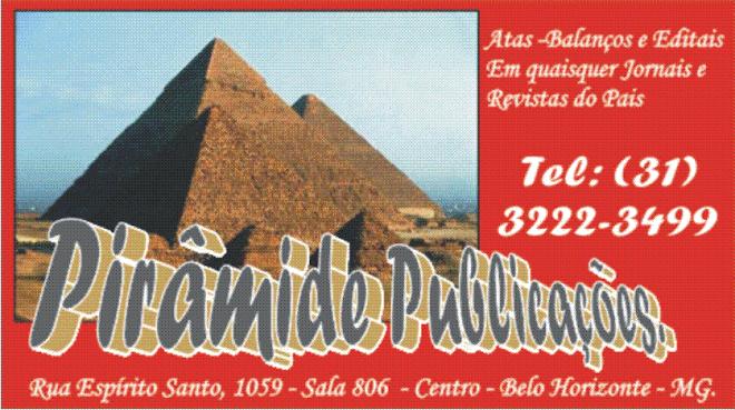 ***  Pirâmide Publicações - (31) 3222-3499  ***