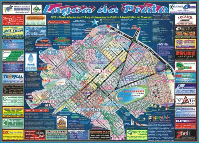 * Planta Cartográfica Oficial de Lagoa *