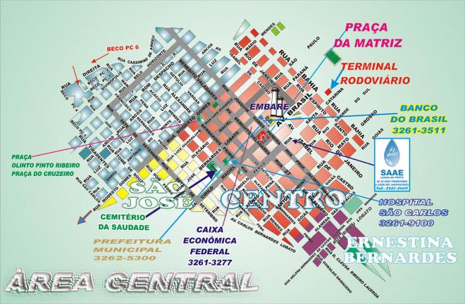 Àrea Central da Cidade Planta