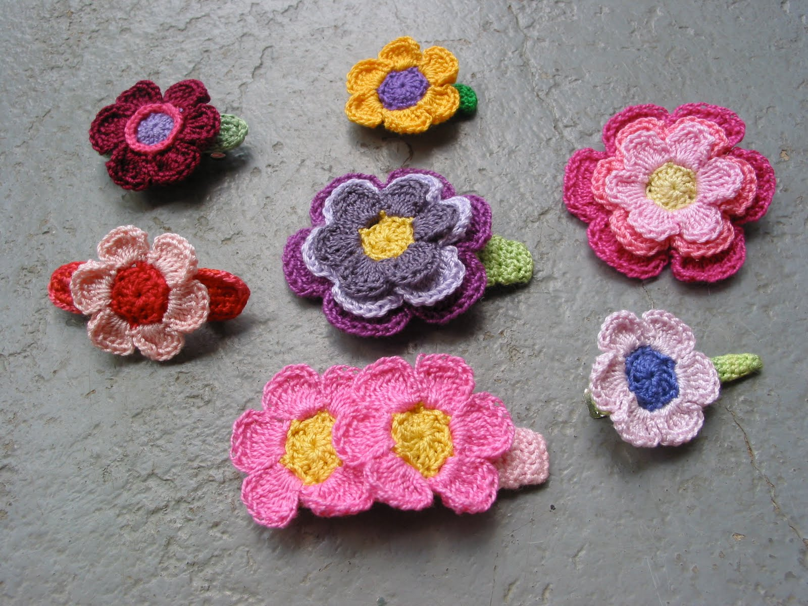 GwenGoods: Crochet Hair Clip Accessories