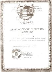 RECONOCIMIENTO POR PARTE DE LA UE JOAQUÍN CRESPO A LA E. GUÁRICO.2001