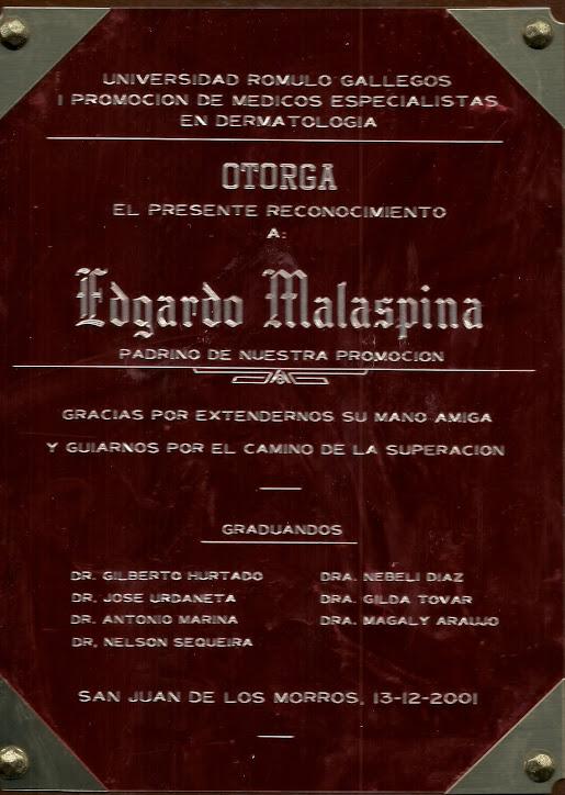 I PROMOCIÓN DE DERMATÓLOGOS.UNERG.2001