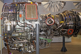 An aircraft's jet engine