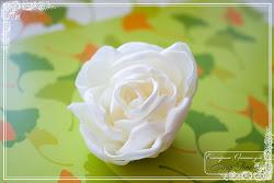 МК роза из атласа