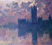El Parlamento de Londres durante el ocaso
