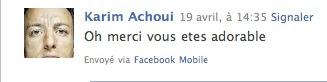 Karim Achoui Facebook Ami Où Ai-Je La Tête ?