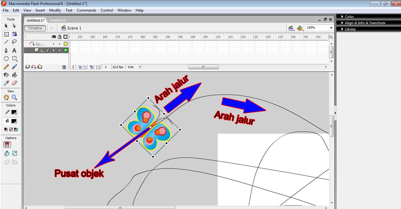Cara Membuat Animasi Kupu - Kupu Terbang Dengan Macromedia Flash 8