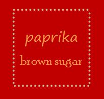Paprika Brown Sugar