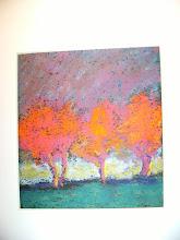 treelines, orange and magenta