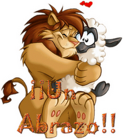 Con todo mi amor, este león es para  mi amigo Paco Alonso, de su amiga Lydia Raquel Pistagnesi